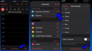 Как да изтрием вируса на календара при iPhone